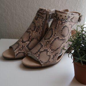 BareTraps Snakeskin tan sandal heels Size 9.5M